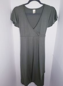 Old Navy Maternity Wrap Dress Short Sleeve NEW Sma